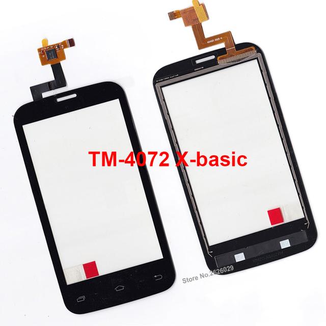 TM-4072 TM 4072 X-Painel Touch Screen Len Para Texet TM-4072 básica TM 4072 X-básico Smartphone Vidro Lente exterior Toque Pannel