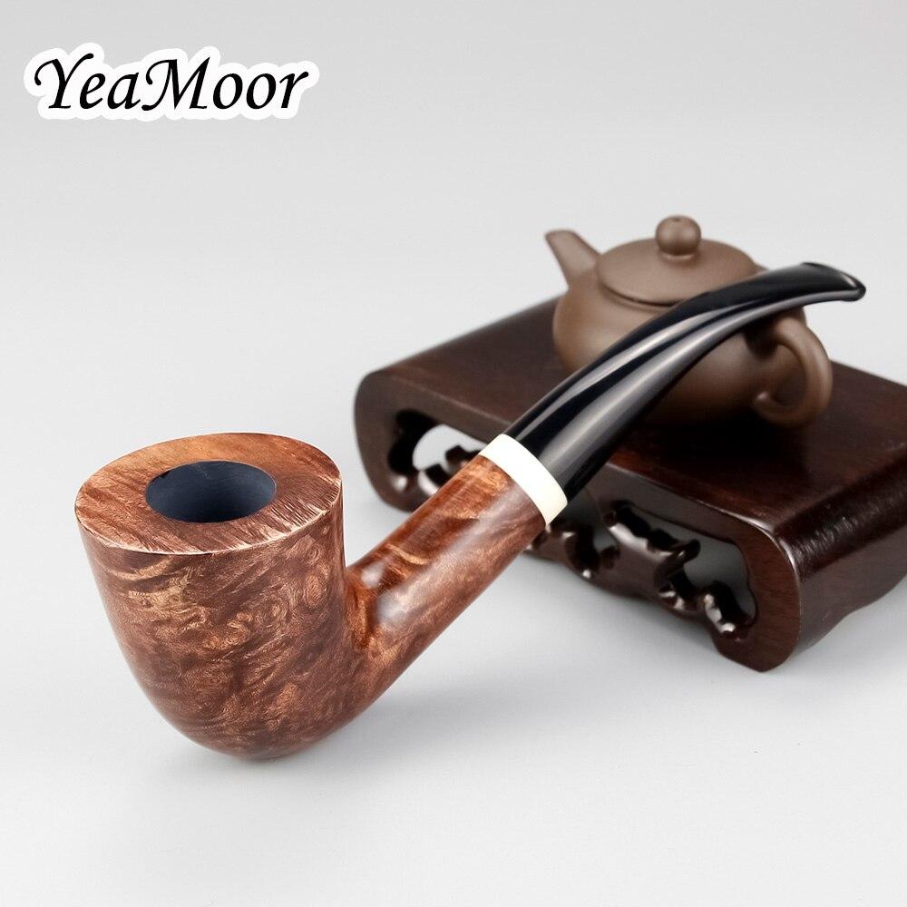 Vintage Briar tuyau plié 74 outils gratuit fait à la main fumer tuyau blanc anneau 9mm filtre gros pot de bois tuyau de tabac ensemble