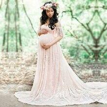 1f2780c01ba CHCDMP New Elegant Lace Maternity Dress Photography Props Long Dresses  Pregnant Women Clothes Fancy Pregnancy Photo · 11 Colors Available