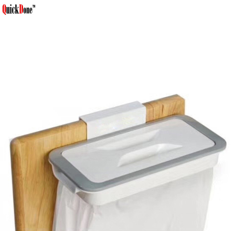 QuickDone 1Pc Hanging Trash Bag Holder Cabinet Cupboard Rack And Garbage Rubbish Storage Bags holders Kitchen Accessory AKC6152