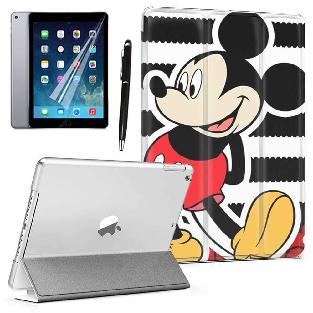 """Cool Cartoon Mickey Mouse Lovely PU Leather Smart Case Cover Red For iPad Mini 1 2 3 4 5th 6th Air 9.7"""" Pro 10.5"""" 11"""" 12.9"""" 2018"""