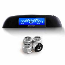 TPMS car tire pressure monitoring system with 4 external sensors High quality TPMS for your safety Support BAR and PSI