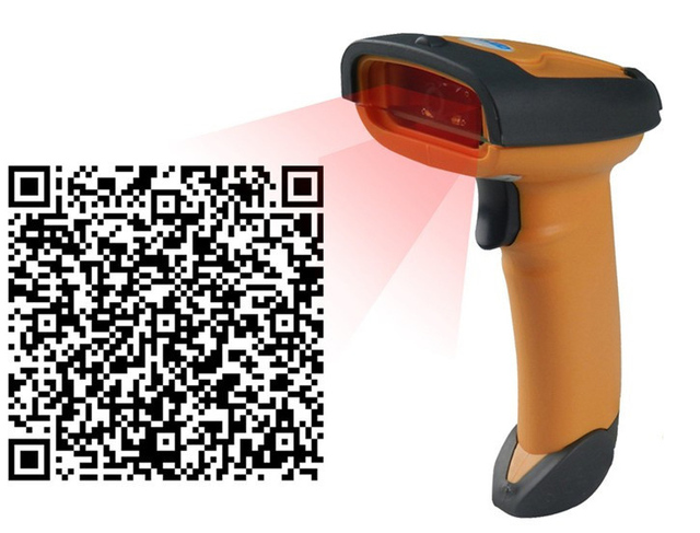 Supermarket 1D&2D QR code reader Drop resistance and