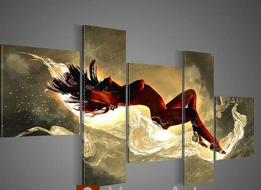 100 Hand Painted Simple Fashion Abstract Sexy Design Nude Girl Wall Art Modern Oil -3758