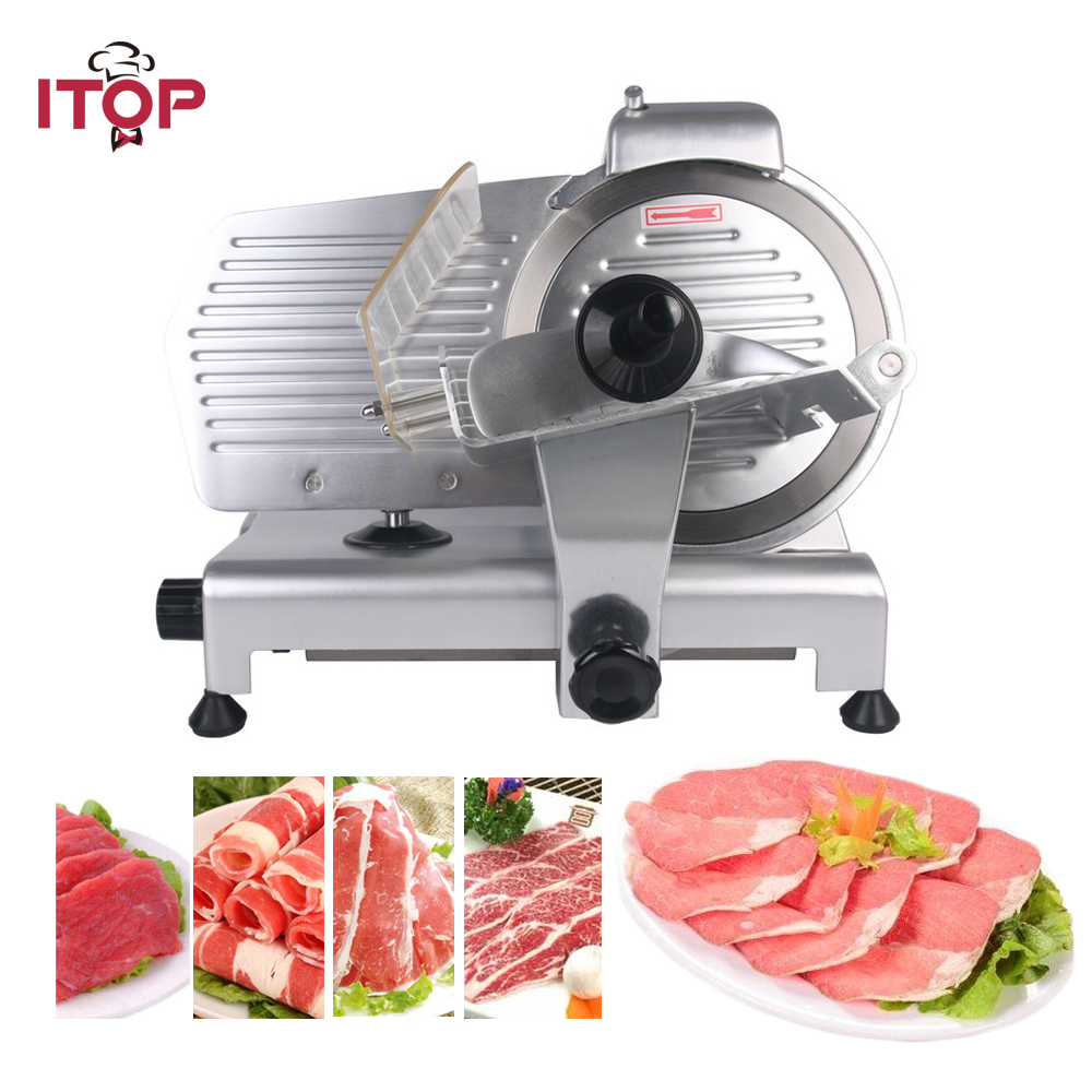 Commercial Meat Slicers Household Electric Meat Cutter Sliceable Pork Frozen Meat Cutter Slicer Cutting Machine 110V itop 10 blade premium meat slicer electric deli cutter home kitchen heavy duty commercial semi automatic meat cutting machine