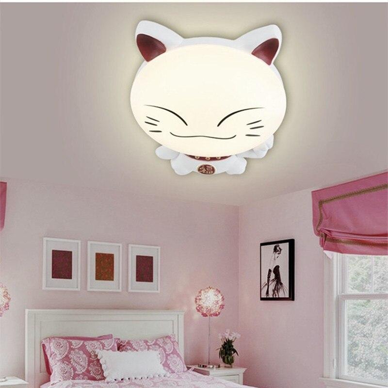 HAWBERRY LED A luce bianca neutro luce bianca calda per bambini camera da letto camera gattino del fumetto semplice lampada da soffitto - 4