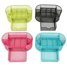 9 Cell Metal Mesh Desktop Office Pen Pencil Holder Iron Desk Organizer for Scissors Ruler Stationery