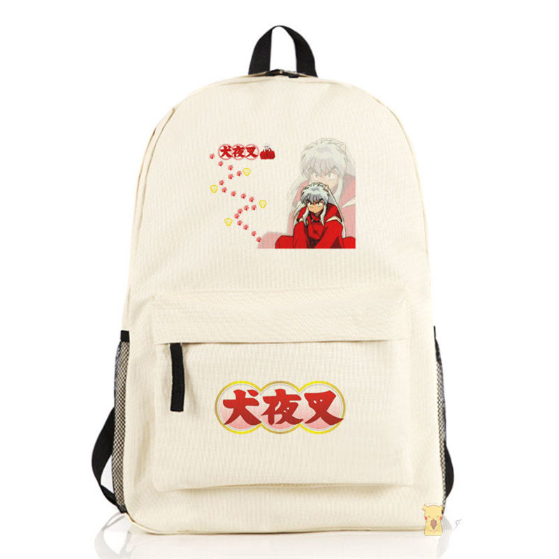 Inuyasha Backpack Anime Sesshoumaru Nylon Shoulders Laptop Bag Cartoon Schoolbag Men Women Travel Backpacks
