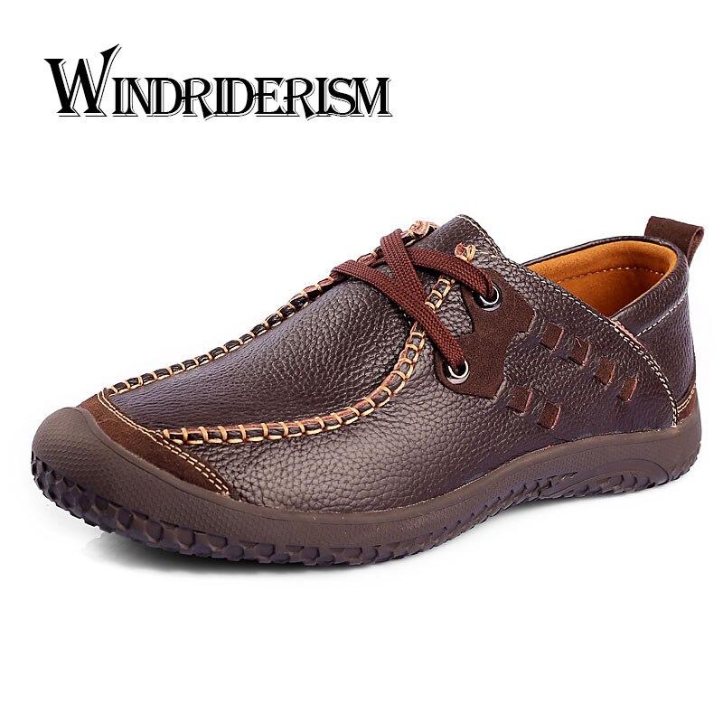 New Men Flats Shoes Casual Genuine Leather Shoes Spring Autumn Driving Shoes Men Oxfords Zapatos Hombres Pisos Para Hombres