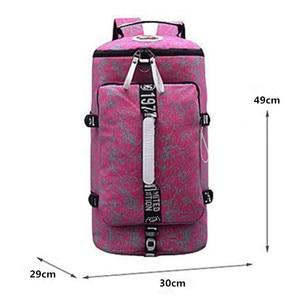 Image 4 - 유명 브랜드 캔버스 여성 여행 가방 여성 대용량 여행 배낭 숙녀 다기능 크로스 바디 가방