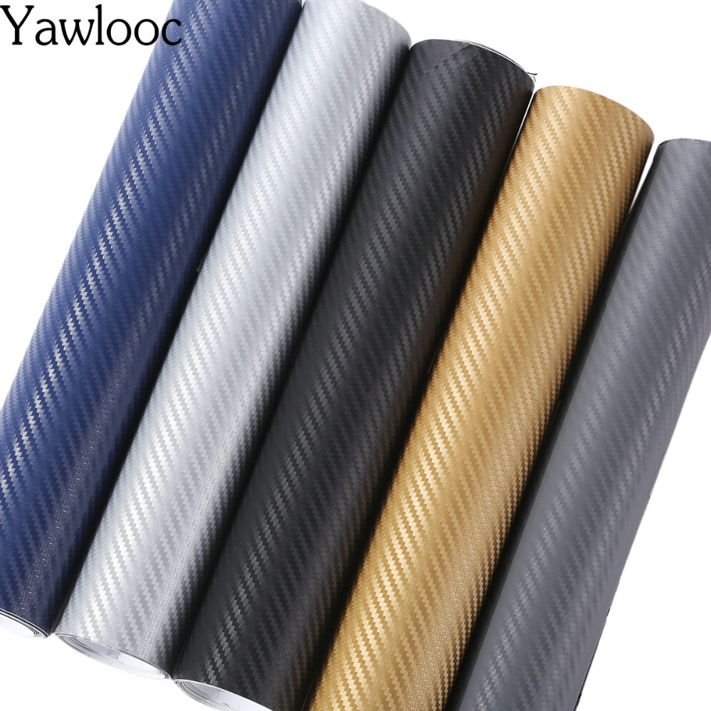 10*152cm 3D Carbon Fiber Vinyl Car Wrap Sheet Roll Film Car stickers and Decals Motorcycle Car Styling Accessories Automobiles стоимость