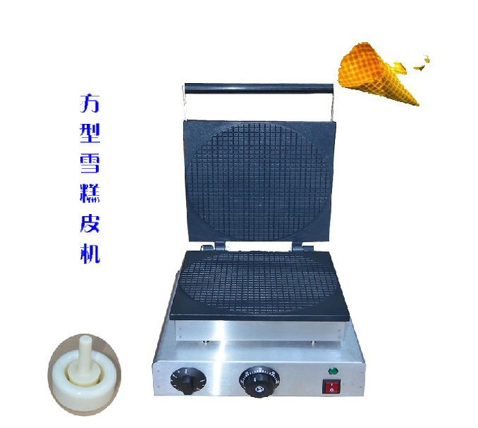 110v 220v Round Ice Cream Cone Making Machine come with Tools square pan rolled fried ice cream making machine snack machinery