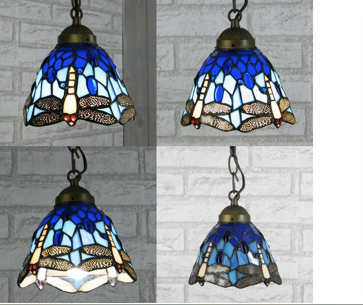 Dragonfly European style Tiffany Pendant Lights Pendant Lamps Dining Room for home Indoor Lighting Fixture Free Shipping tiffany mediterranean dining room pendant lamps european style simple triple staircase modern living room lamp pendant lights