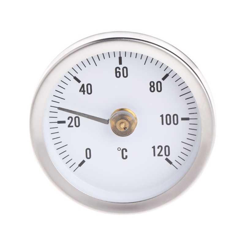 Зажим-на трубе циферблат термометр измеритель температуры биметаллический датчик температуры с диапазоном измерения пружины 0-120C