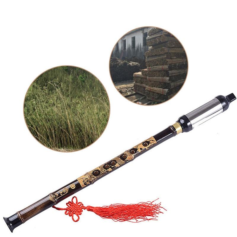 Chinese Ethnic Instrument Black Bamboo Bawu Pipe BaWu ... Woodwind Band Instruments
