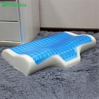 PurenLatex 55*45 силиконовый гель крем пены памяти Лето охлаждения Ортопедическая подушка подушки детские анти экзема шейный позвонок без крышки