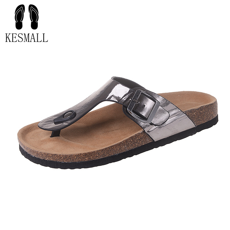 New Summer Beach Cork Slippers Sandals Casual Double Buckle Clogs Sandalias Women Slip on Flip Flops Flats Shoe Plus Size WS114 wolf who summer women slippers buckle flats sandals fashion beach sandals leisure sandalias mujer high quality flip flops women