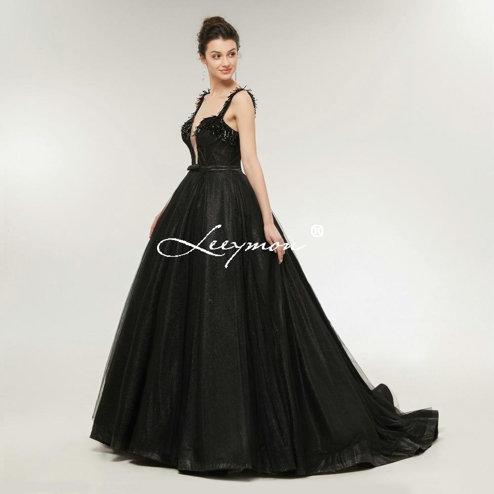 Robe De Soiree Black Shiny Sequin երեկոյան զգեստ - Հատուկ առիթի զգեստներ - Լուսանկար 3