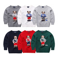 2-6T Years Baby Boy's Cartoon Bear Sweater Male Child Fall O-Neck Long Sleeve Knitted Cardigan