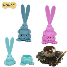 WOWCC 1 шт. ситечко для чая здоровая силиконовая форма в виде кролика для заварки чая многоразовый чайный пакетик ситечко для чая и кофе аксессуары для чайника
