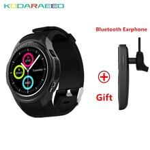 "Relógio Smartwatch Telefone L1 1.3 ""Sports MTK2503 Freqüência Cardíaca Relógio Inteligente iOS Android 2G Wifi Chamada Bluetooth Câmera GPS + Free Fone de Ouvido"