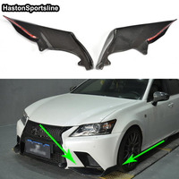 GS350 GS F Sport Carbon Fiber Car Front Lip Splitter Cover Apron trim for Lexus GS F Sport 2012 2013 2014 2015