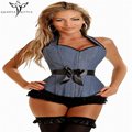 Sexy lingerie corselet cintura trainer trainer cintura corset overbust corpetes espartilhos e corpetes para mulheres slimming body shaper