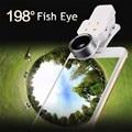 Efecto de Embellecimiento 3in1 Linterna LED Clips Cámara Lentes de ojo de Pez de Ancho lente gran angular y macro para sony xperia z1 z3 compact m5 xa