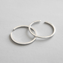 HFYK 2019 Fashion 925 Sterling Silver Ring For Women Open 1.2mm Line Thin Rings Jewelry Small Bague Femme Argent