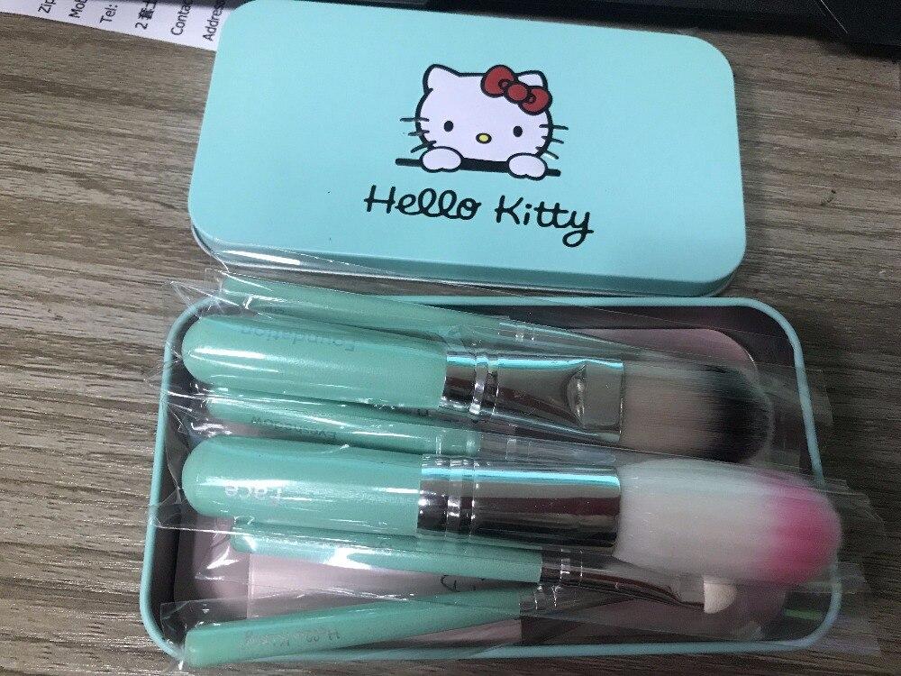 Professional 7pcs/set Make Up Brushes Kit Synthetic Hair Makeup Brush Set with Box