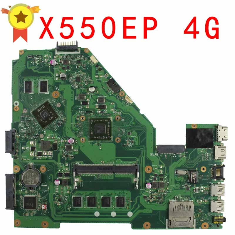 for ASUS F552E F552EP X552E X552EP REV2.0 Motherboard With Processor On board HD8670M 4G Memory 60NB03Q0-MB9120 100% test samxinno for asus x751ma motherboard x751md rev2 0 mainboard processor n2830 2g memory on board 100% test