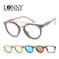 2015 New Style Optical Glasses Unisex Wood Like Optical Glasses SPR09