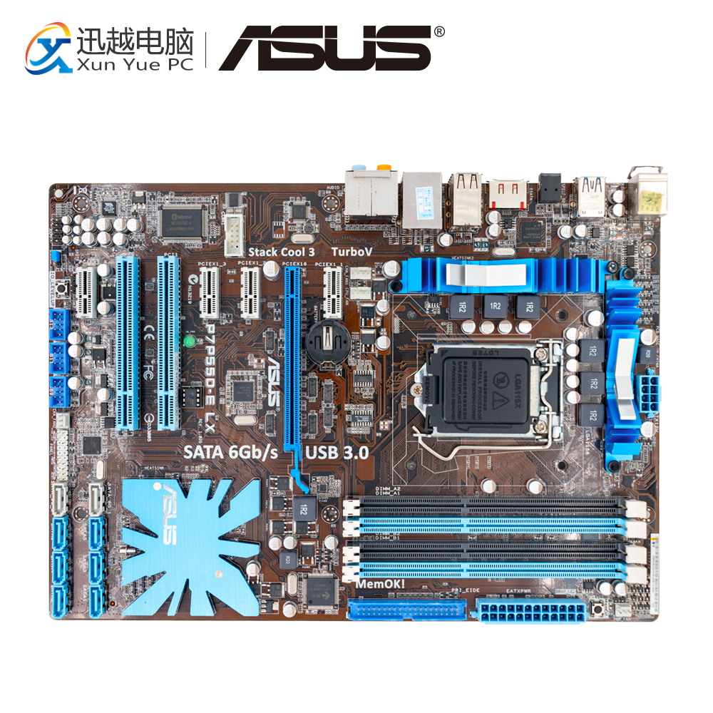 Asus P7P55D-E LX Desktop Motherboard P55 Socket LGA 1156 i3 i5 i7 DDR3 16G SATA3 USB3.0 On Sale ATX