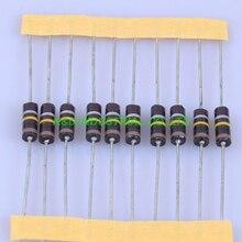 10 шт., винтажный резистор из карбона 0,5 Вт, 100 к, 0,3 Ом