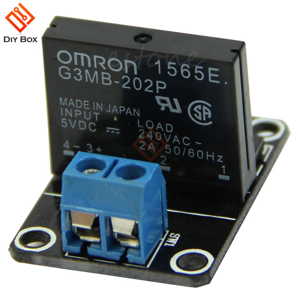 5v Dc 1 Channel Solid State Relay Board Module High Level Fuse For