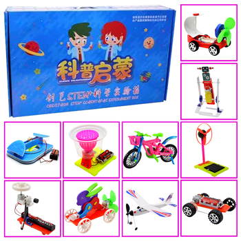 Promotion pack 4# DIY Toys ten kinds of different  electronics education self assembly kit for:science DIY kits Child