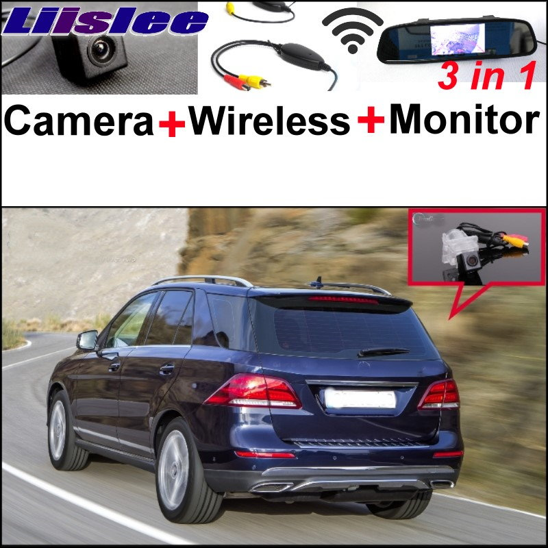 Liislee For Mercedes Benz M ML Class MB W166 3 in 1 Special Camera + Wireless Receiver + Mirror Monitor Parking Back Up System 3in1 special wifi camera wireless receiver mirror monitor easy diy parking system for mercedes benz mb a class w169