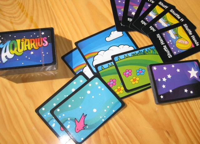 Aquarius Card Game Family Game toy Popular Strategy Party Funy Flowers children present birthday Games toy