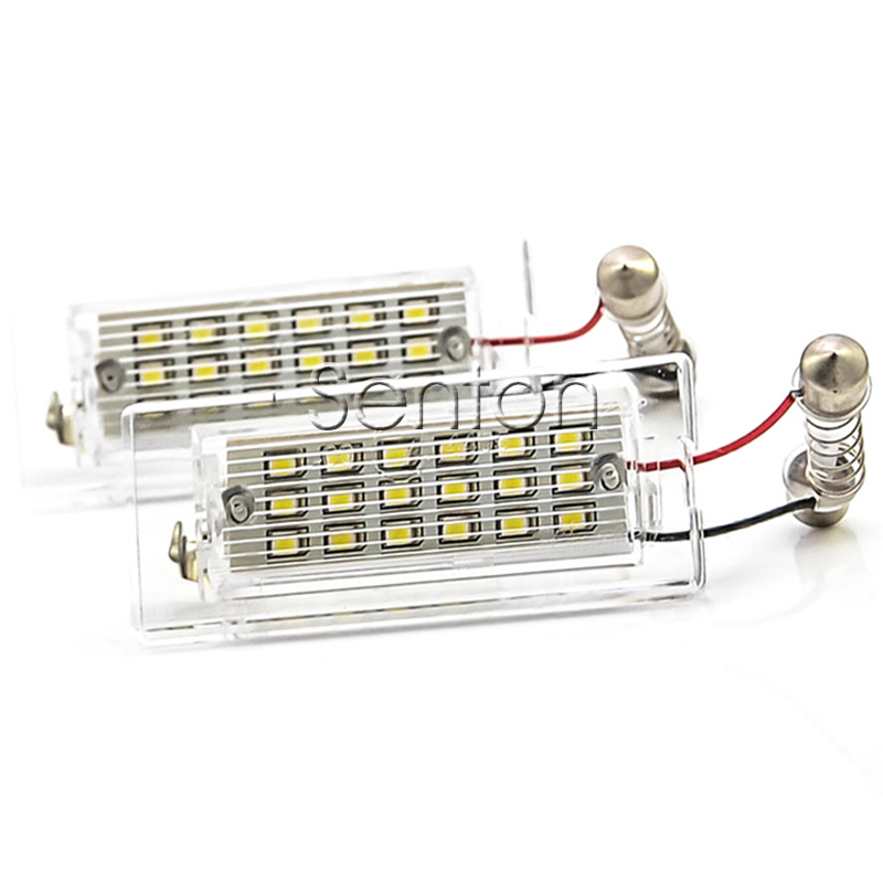1Pair Car LED number License Plate Light 12V White SMD LED canbus lamp bulb Car Styling For BMW X5 E53 X3 E83 accessories