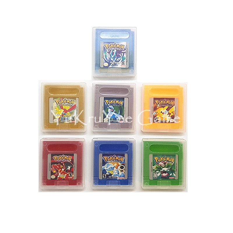 PokemonSeries Classical Video Game Cartridge Console Card for 16 Bit Handheld Console English Version