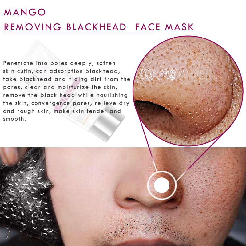 Hard-Working Blackhead Remover Nose Black Mask Moisturizing Face Care Mud Acne Treatment Peel Off Mask Pore Strip Skin Care Peel Mask Face Skin Care