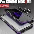Case para xiaomi 5s m5 luphie original de lujo de moda de doble espada de color marco de aluminio del metal case para xiaomi mi5 m5s M501