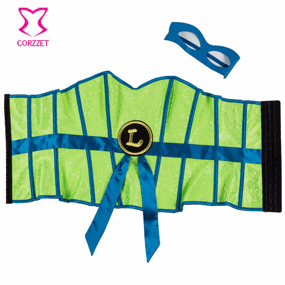 Bustiers & Corsets Neon Green Show Superhero Cosplay Corsetto Sexy Korsett For Women Corset Gothic Clothing Corsets And Bustiers Burlesque Costumes