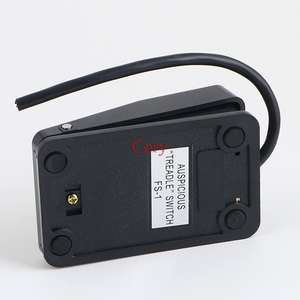 Image 4 - 1PC 220V 10A SPDT Momentary type switch pedal Power Foot Pedal Switch Safety Press Black Plastic CZYC