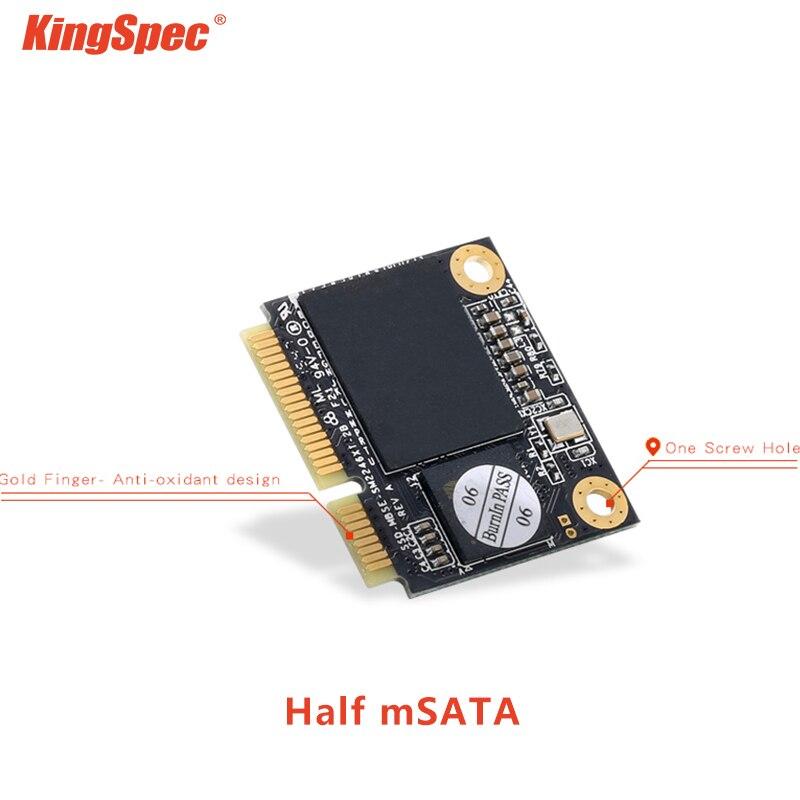 KingSpec SSD mSATA Half Size SSD 120GB 240GB 1tb HDD SATA 3.0 III For Tablet PC Laptop hard drive disk mSATA ssd half size(China)