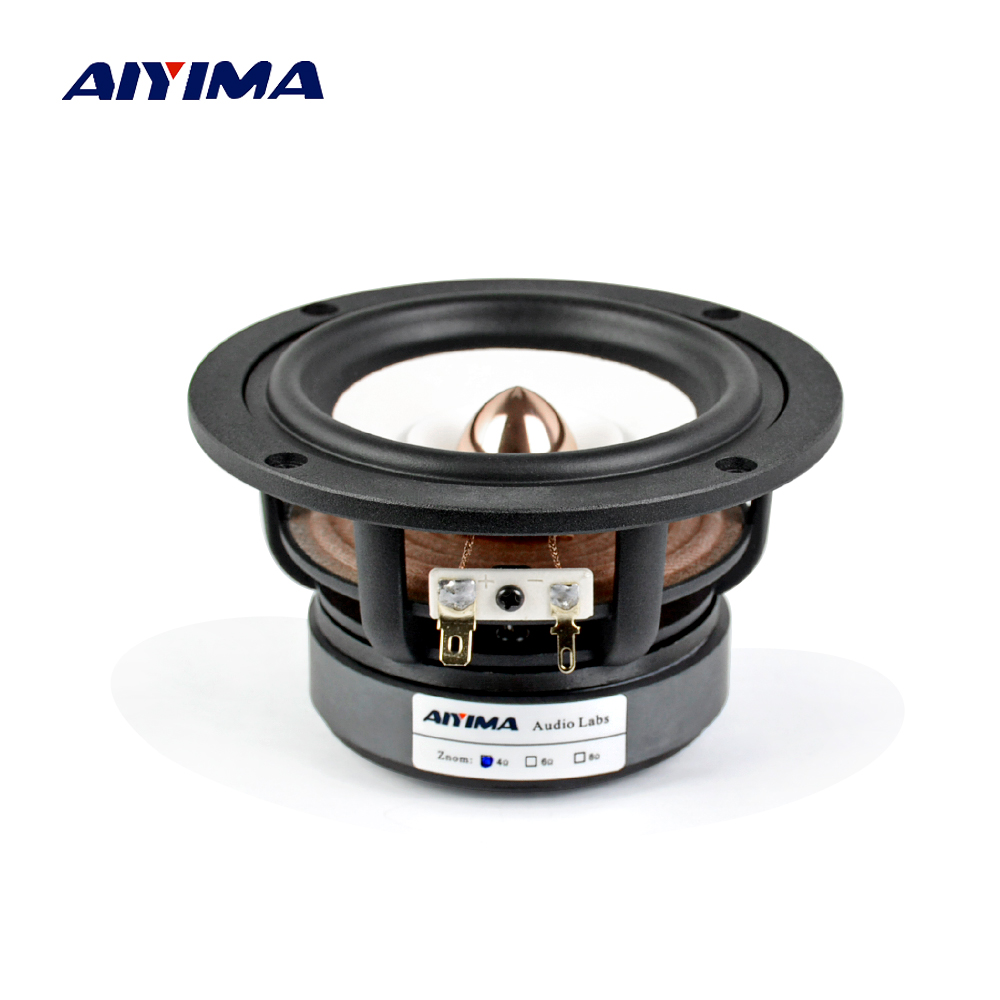 AIYIMA 1PC 4Inch Full Range Speaker 4Ohm 8Ohm 30W HIFI Treble Mediant Bass Loudspeaker Desktop Bookshelf