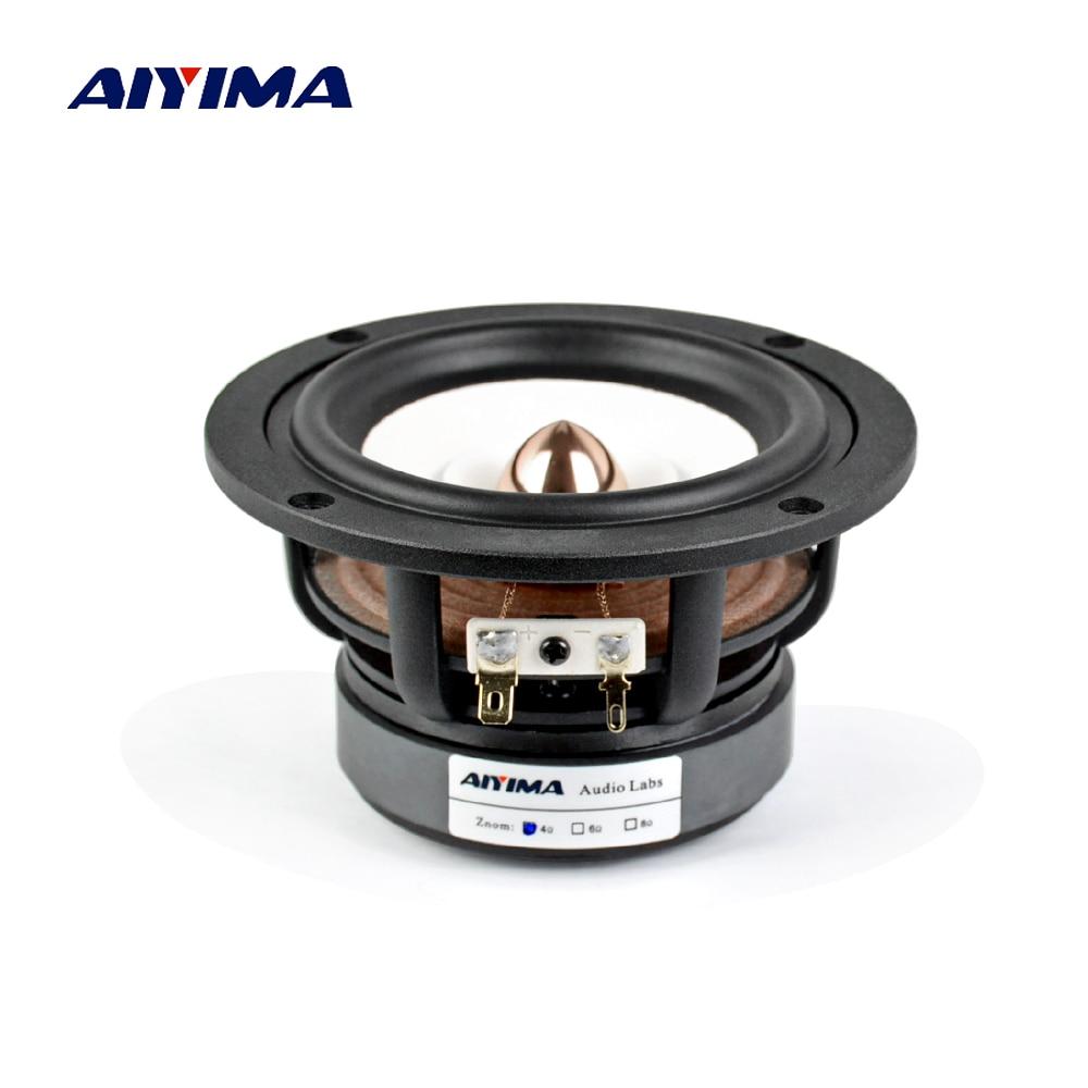 Aiyima 1PC 4Inch Full Range Speaker 4Ohm 8Ohm 30W HIFI Treble Mediant Bass Loudspeaker Desktop Bookshelf Audio Speaker