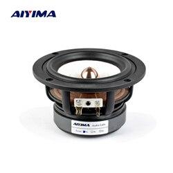 Alto-falante aiyima 1 peça, 4, Polegada, alcance total, 4, 8 ohm, 30w, alta fidelidade, graves medidores, alto-falante, prateleira de mesa alto-falante de som de áudio diy