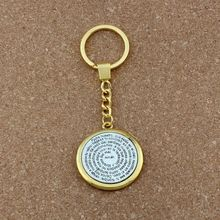 30mm Keychain Bible Amen Round Religious Pendant Key Ring Travel Protection 38mm 10pcs/lots A-442f