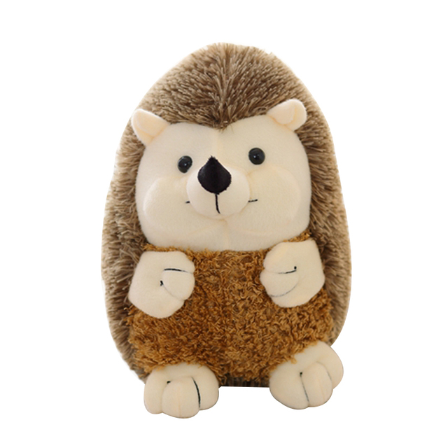 1pcs 16cm new super cute hedgehog plush toy high quality doll home decoration gift for children dolls toys